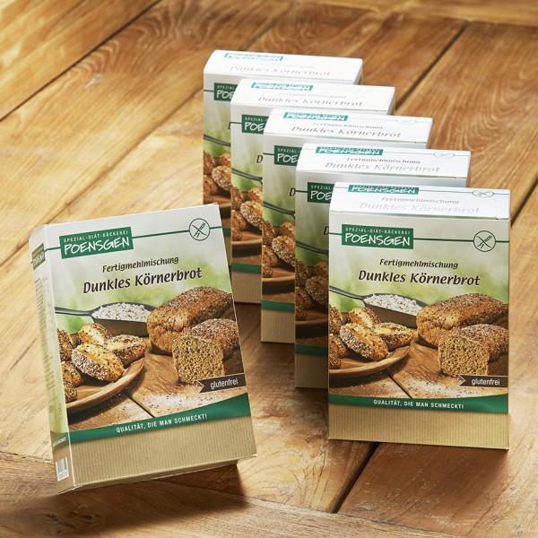 Dunkles Körnerbrot glutenfrei 6 x 500g Vorteilspack