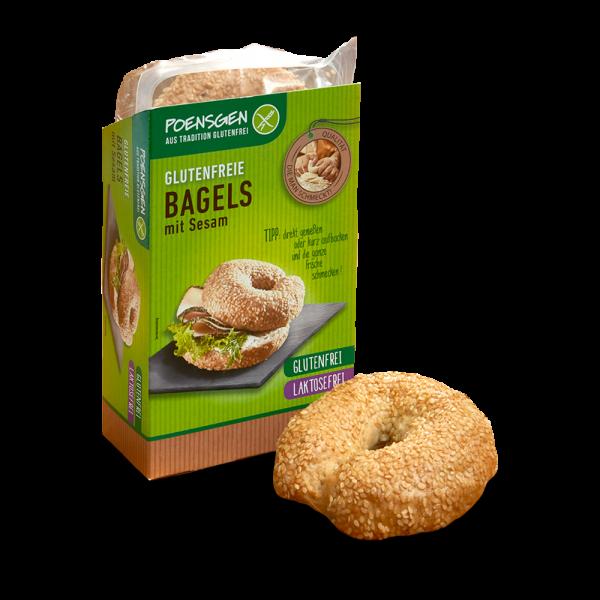 Bagels mit Sesam 2 x 75g, glutenfrei / laktosefrei