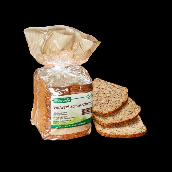 Vollwert-Schwarzbrot glutenfrei / laktosefrei 500g