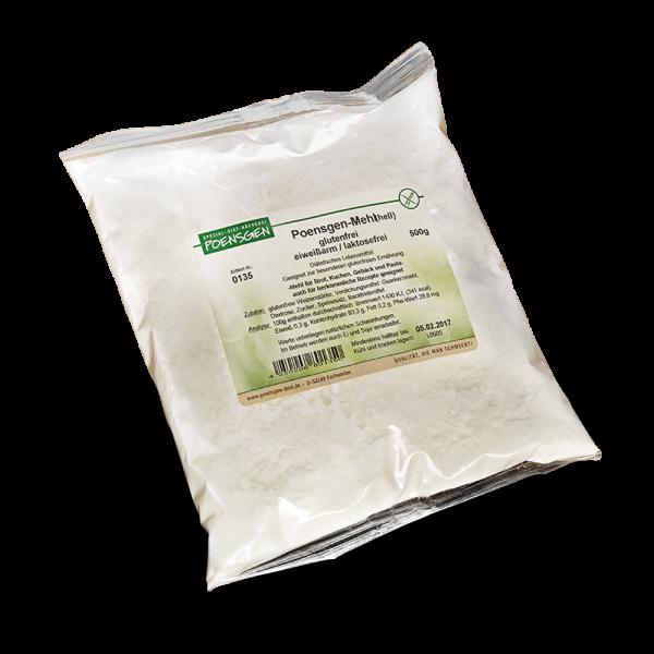 Poensgen Mehl hell glutenfrei / laktosefrei / eiweißarm 500g